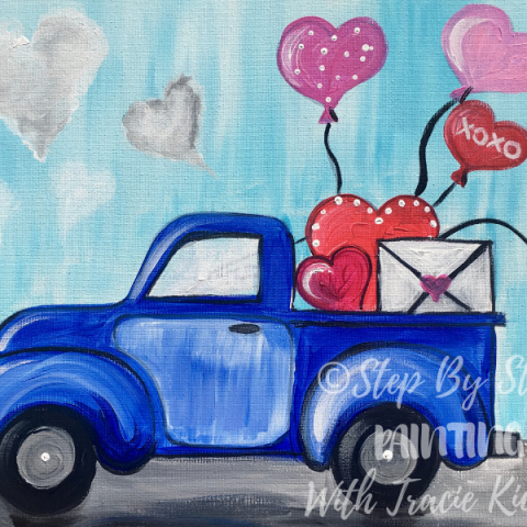 Love Truck Painting