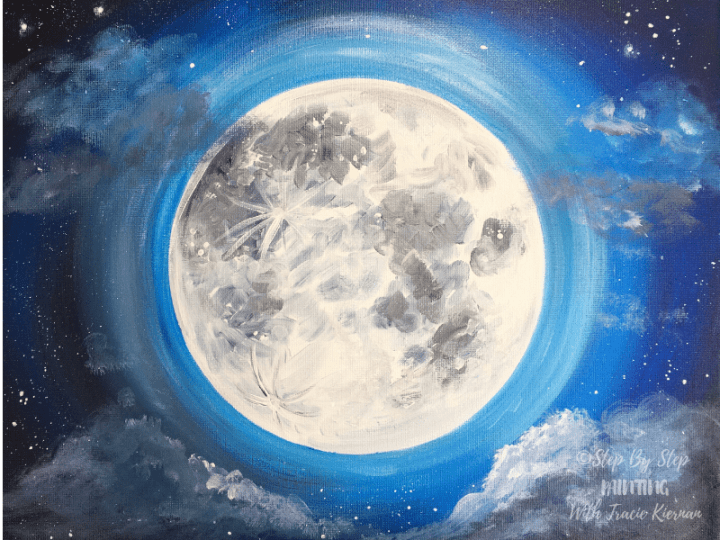 Moon Painting - Step By Step Acrylic Painting Tutorial - With Pictures