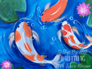 Koi fish painting