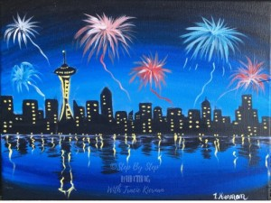 Space Needle Fireworkds
