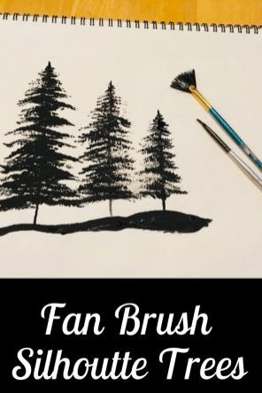 Link to Fan Brush Tree Silhouette Technique