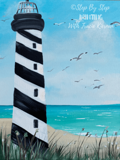 Lighthouse Beach Painting