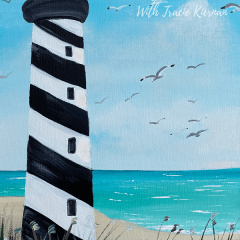 Lighthouse Beach Painting