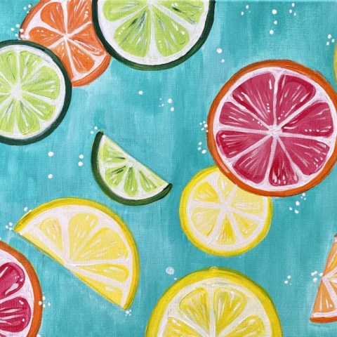 How To Paint Citrus Slices