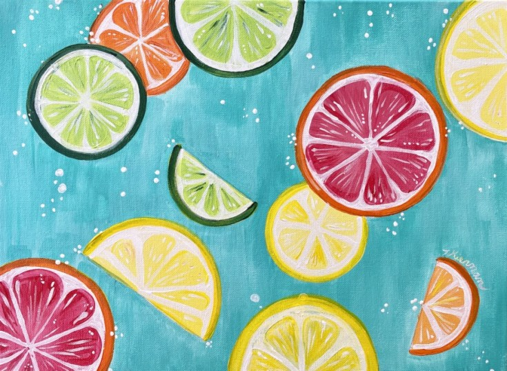 How To Paint Citrus Slices