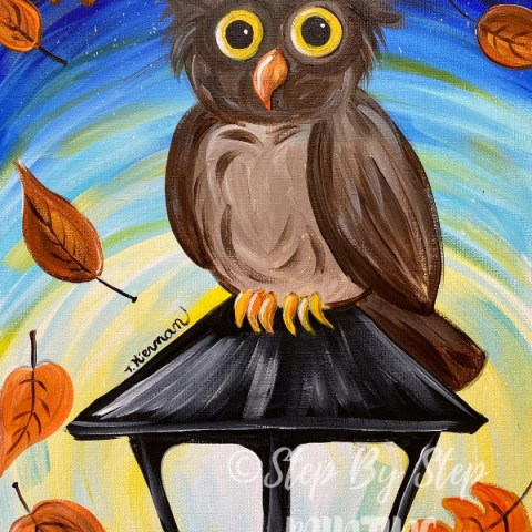 "How To Paint ""Owl on a Lamppost"""
