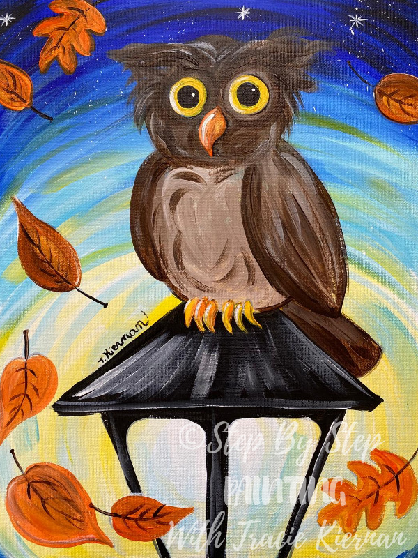 """How To Paint """"Owl on a Lamppost"""""""