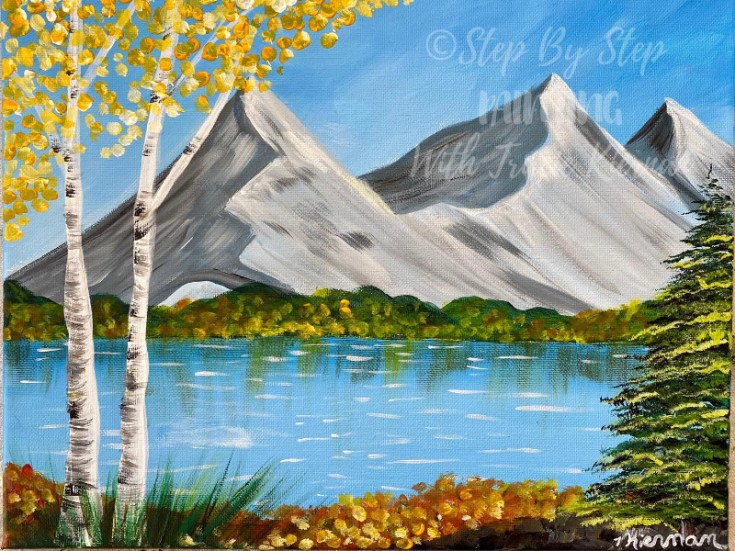"""How To Paint """"Mountain Morning"""" Fall Landscape"""