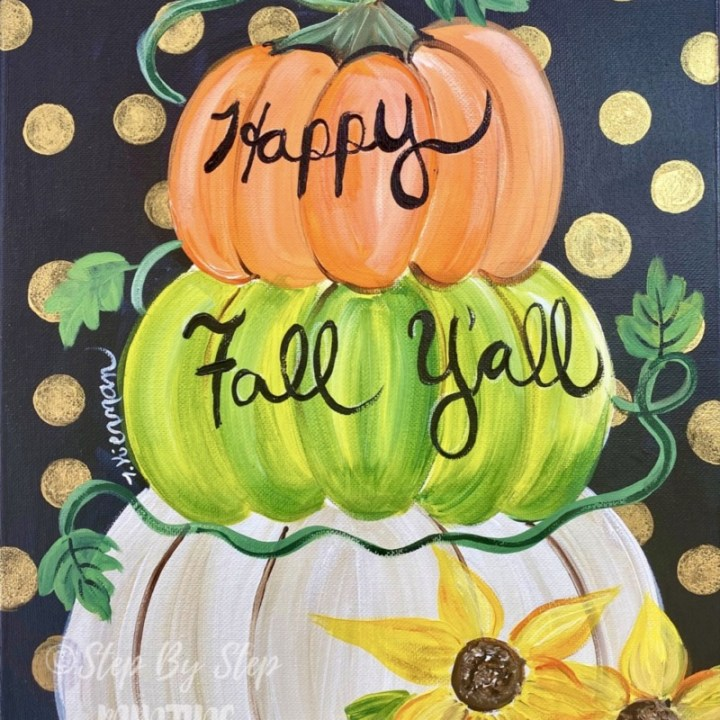 How To Paint A Whimsical Pumpkin Topiary