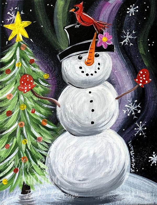 Magical Snowman Painting Tutorial