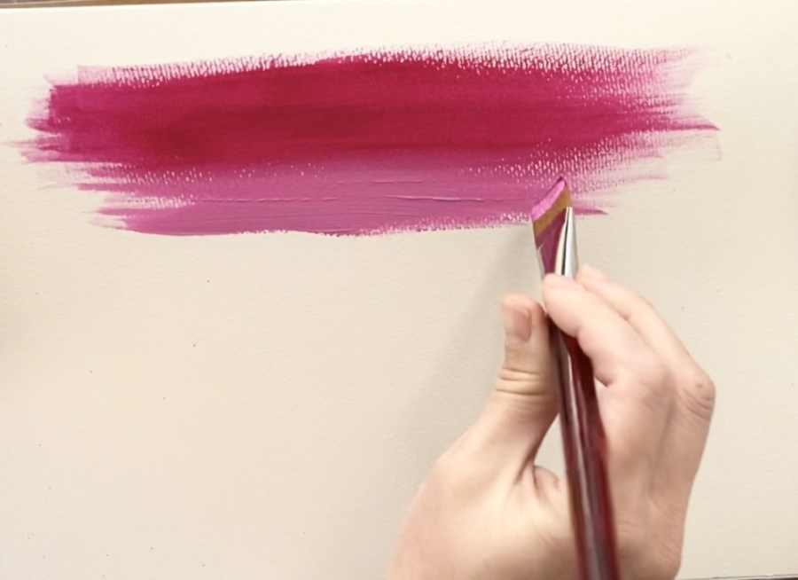 how to blend acrylic paint