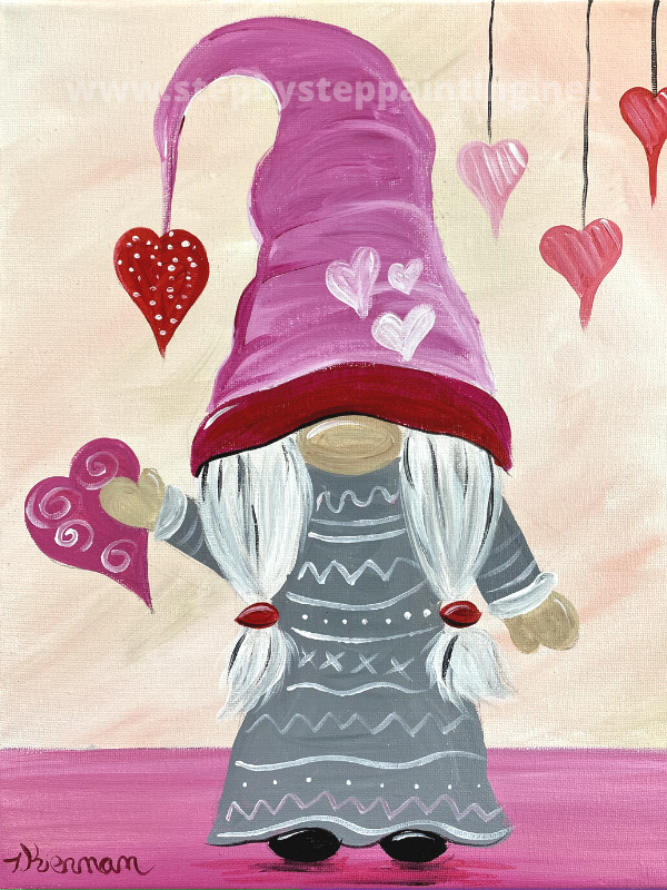 Valentine's Gnome Painting Tutorial