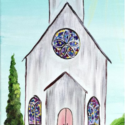 How To Paint An Old Country Church