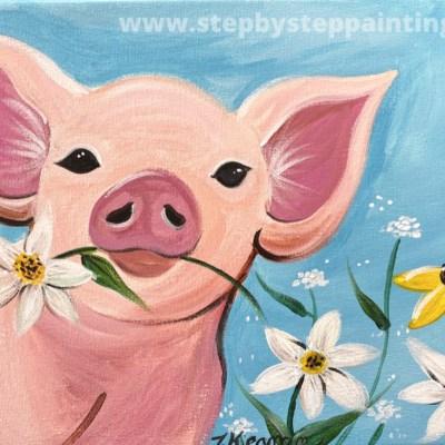 Spring Pig Painting Tutorial