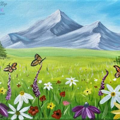 """Wildflower Landscape"" (Members Bonus Tutorial For March)"