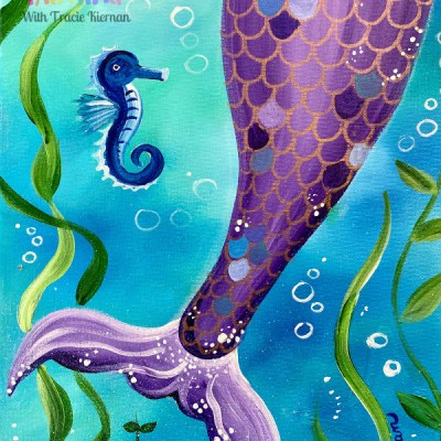 Mermaid Tail Painting Tutorial