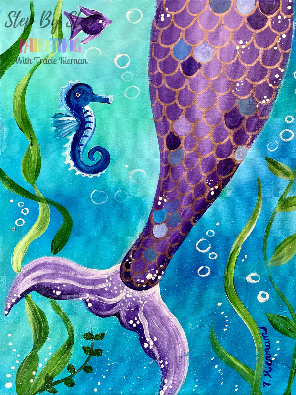 Mermaid Tail Acrylic Painting Tutorial