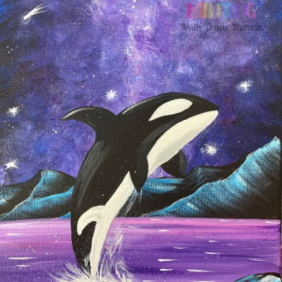 Orca Whale With Galaxy Sky Painting