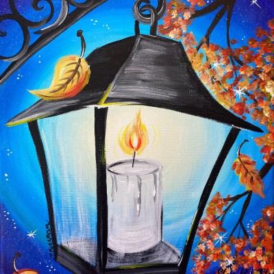 Fall Lantern Acrylic Painting Tutorial