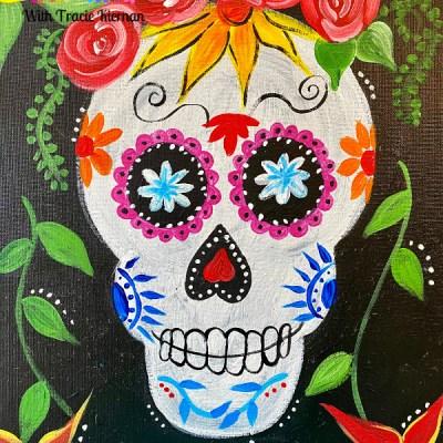 Dia De Los Muertos Sugar Skull Painting Tutorial