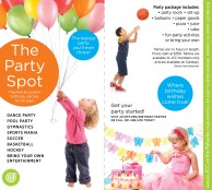 Birthday Party Rack Card