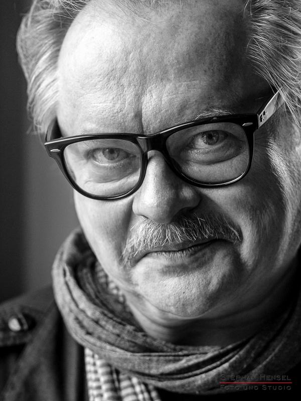 Heinz Rudolf Kunze im Studio bei Stephan Hensel, Portraitfotograf: Stephan Hensel