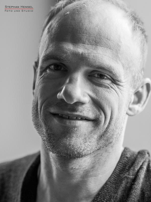 David Jarolim im Studio bei Stephan Hensel, Portraitfotograf: Stephan Hensel