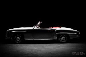 Mercedes-Benz 190 SL, Studioaufnahme, Traumwagenbilder.de, Ansicht von links, Autofotograf: Stephan Hensel, Hamburg