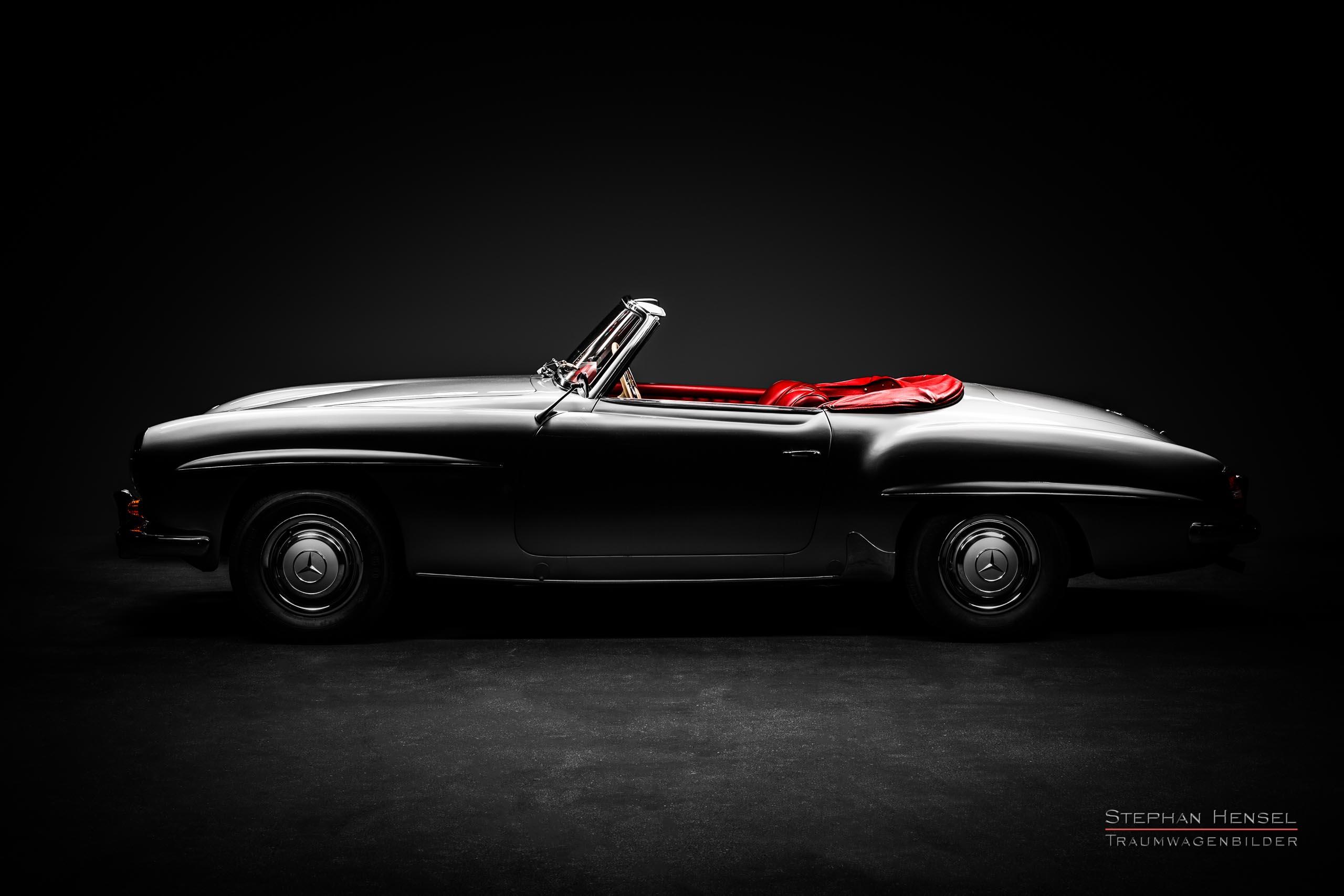 Mercedes-Benz 190 SL, Seitenansicht von links, Autofotograf: Stephan Hensel, Oldtimerfotograf, Hamburg