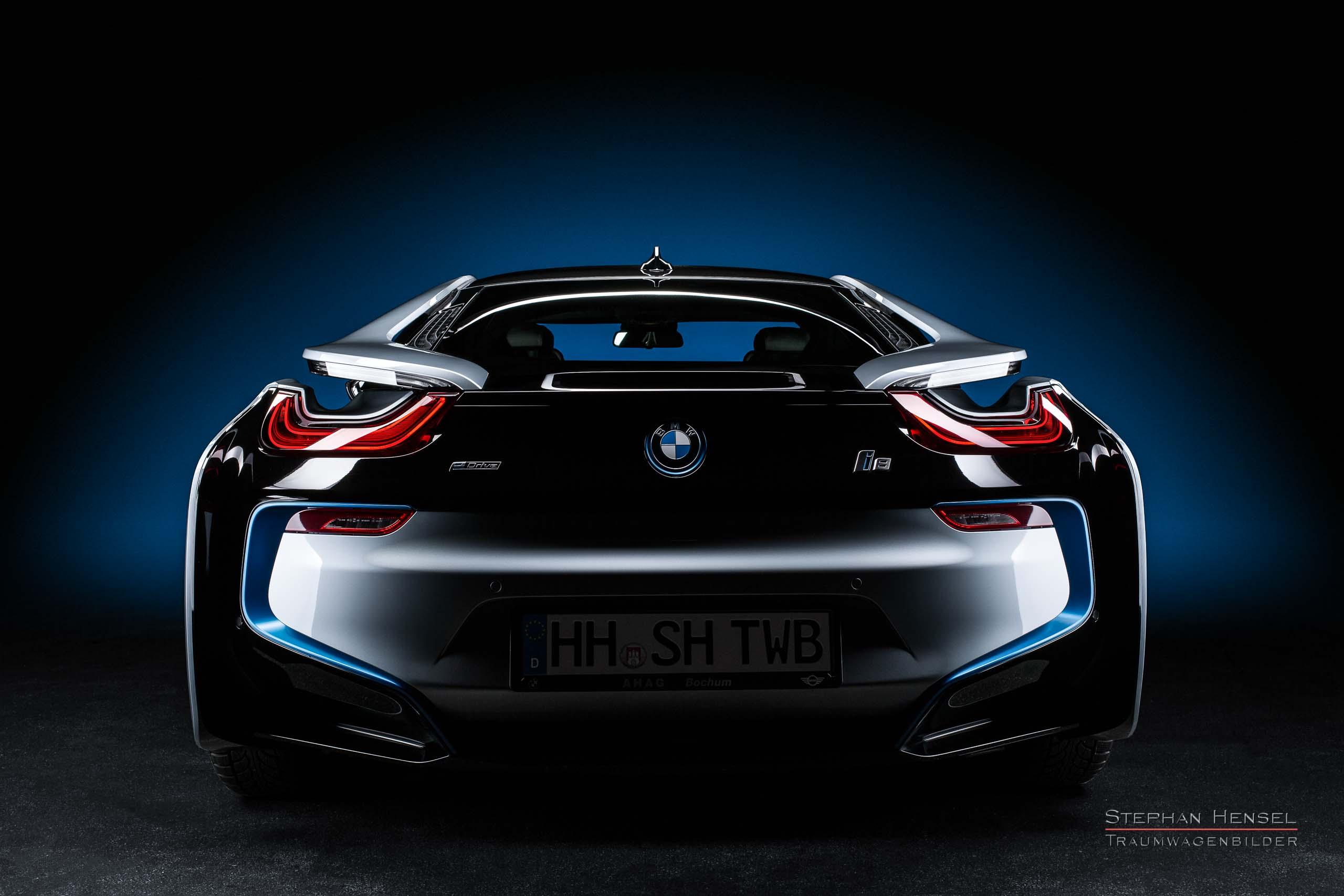 BMW i8, Heckansicht, Autofotograf: Stephan Hensel, Oldtimerfotograf, Hamburg