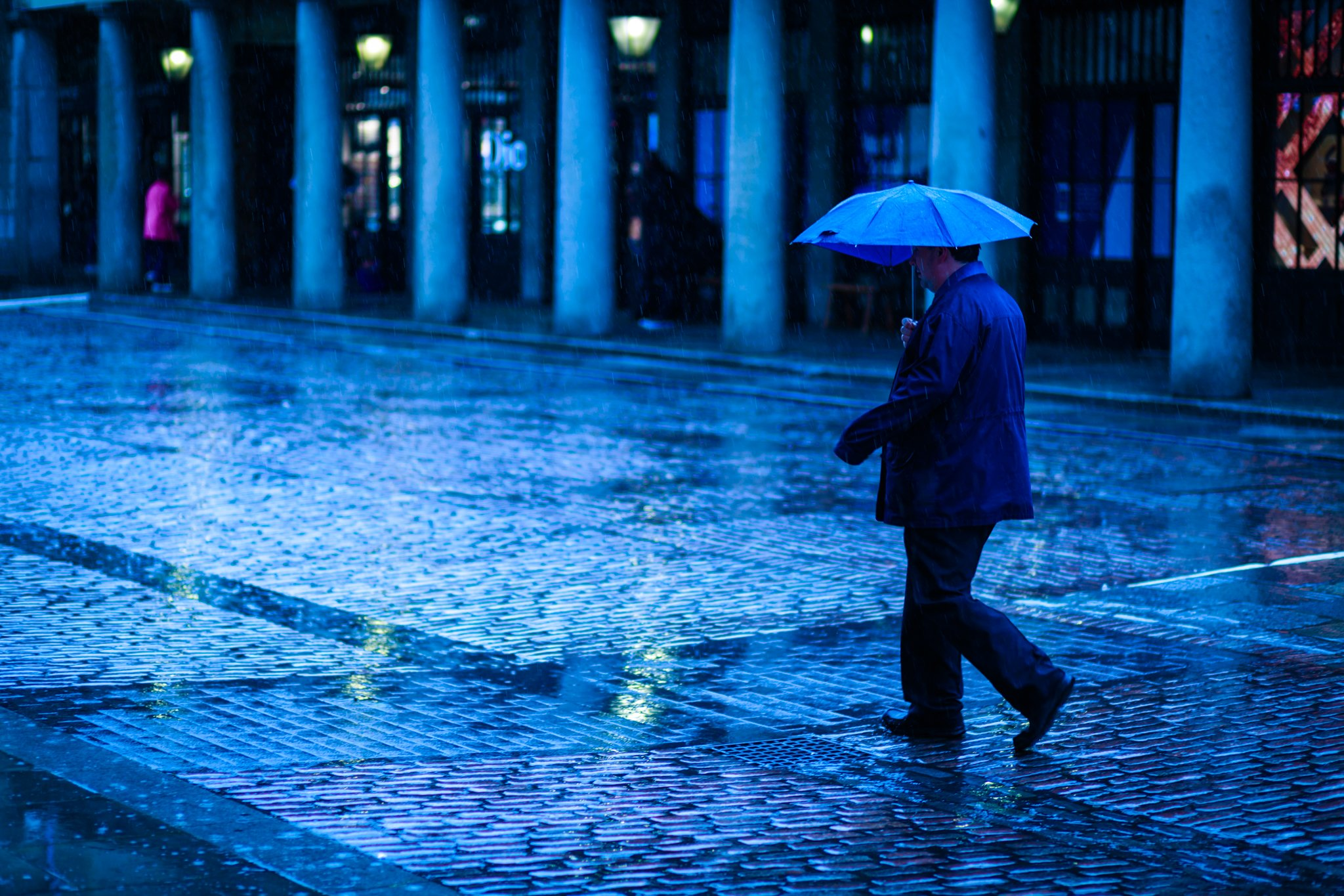 Covent Garden Rain Blue