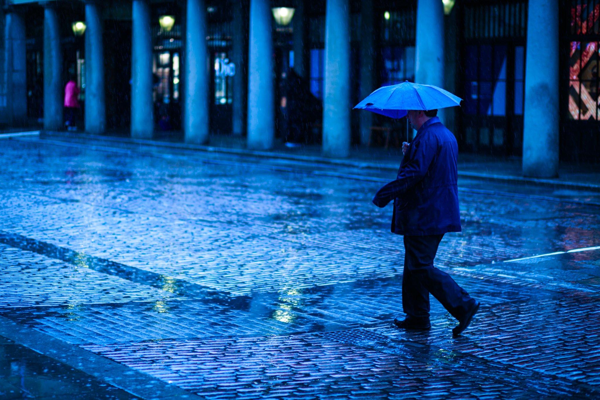 Covent Garden Rain Blue