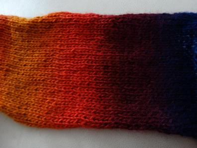 The first set of colours is knit up!