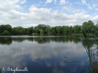 The calm lake is great for reflections!