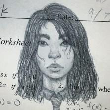Math homework doodle