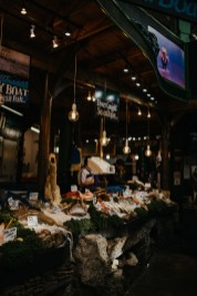 Fish stall at Borough Market. Picture by Stephanie Green Weddings