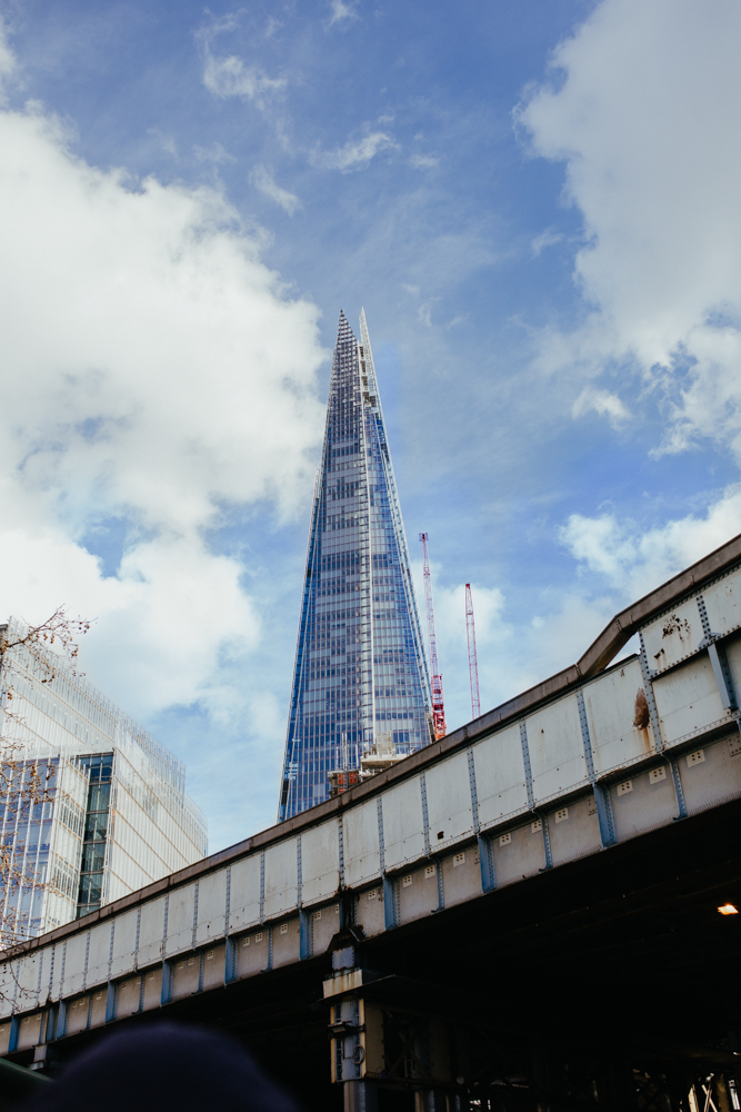 A view of the Shard from Borough Market.