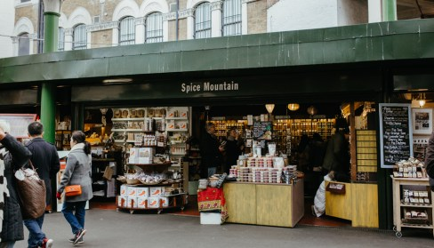 Spice Mountain, a food shop at London's Borough Market. Picture by Stephanie Green Weddings