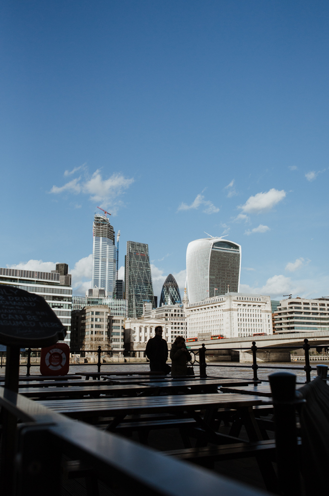 A London cityscape featuring the Gherkin. Picture by Stephanie Green Weddings
