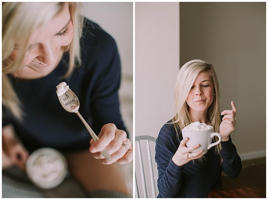 Homemade Hot Chocolate. Recipe found at: stephanie-spring.com