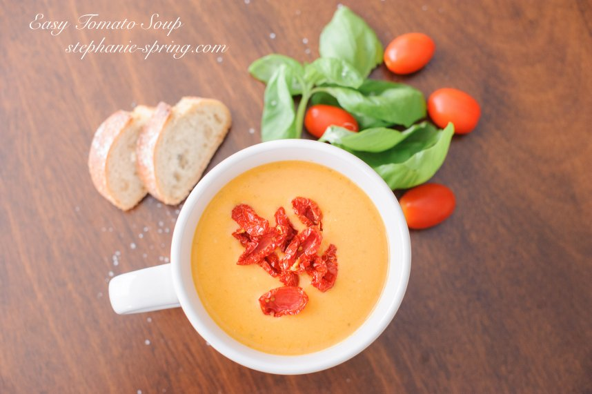 Easy Tomato Soup stephanie-spring.com