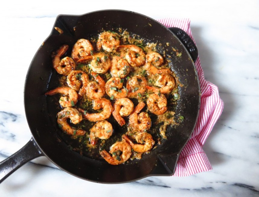 Mustard and Herb Shrimp