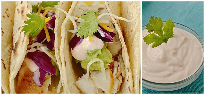 Fish Tacos + Ah-mazing Sauce