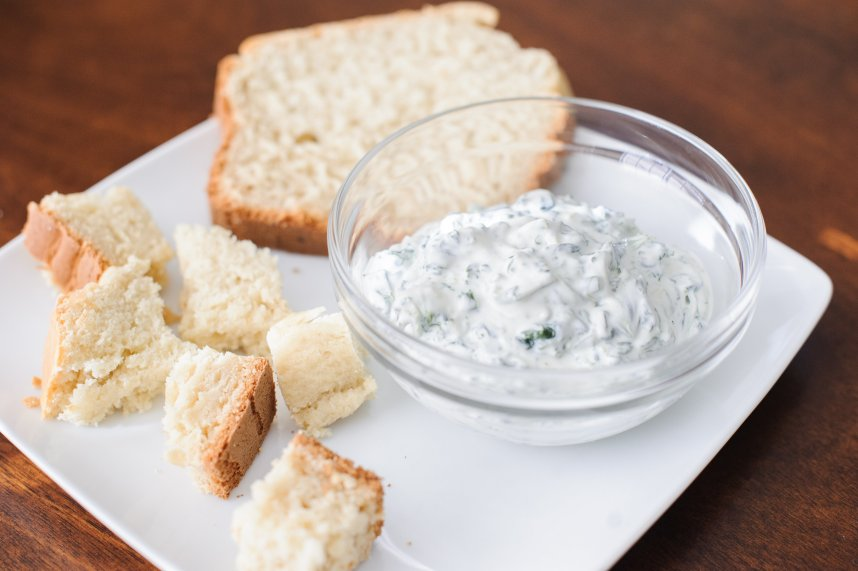 Spinach Dip and Homemade Bread--Recipe at: Stephanie-spring.com