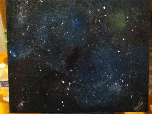 Third painting, I had fun with this space.