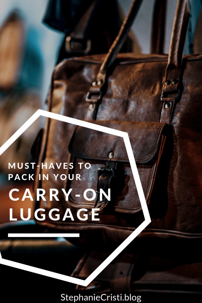 When it comes to packing luggage, there are some items we just can\'t leave behind! Today\'s blog post details my must-haves to pack in your carry-on. #traveling #travel #traveltips #packing