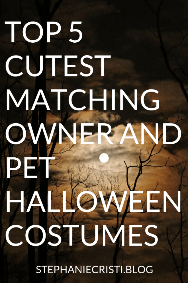 Are you into pet Halloween costumes? Here are StephanieCristi\'s ideas for your pup this Halloween, plus costumes if you want to coordinate with your pooch! #halloween #petcostumes