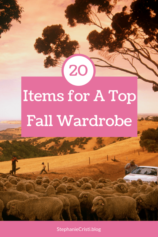 StephanieCristi recommends 20 items to revamp your closet. From tops and coats to hats and shoes, here are 20 items for a top fall wardrobe. #falloutfits #coats #boots #tops