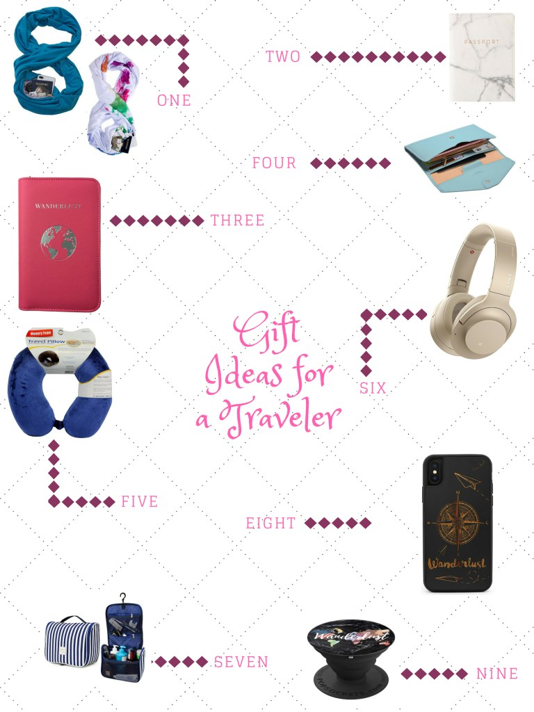 """With the holidays right around the corner, don't forget to check out these 10 gift ideas for a traveler who collects passport stamps instead of """"stuff."""""""