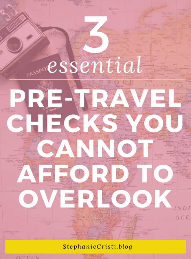 When planning for the trip of a lifetime, chances are that you're a little overwhelmed by just how much you have to organize. However, by putting in the preparation beforehand, you will be able to relax, enjoy yourself, and get the most out of your trip. You need to ensure that you are not stressed or in danger on your trip. Take a look at these pre-travel checks that you cannot afford to overlook.